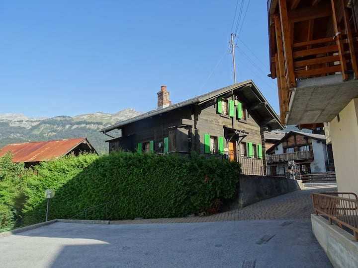 Escape to a real Swiss mountain chalet