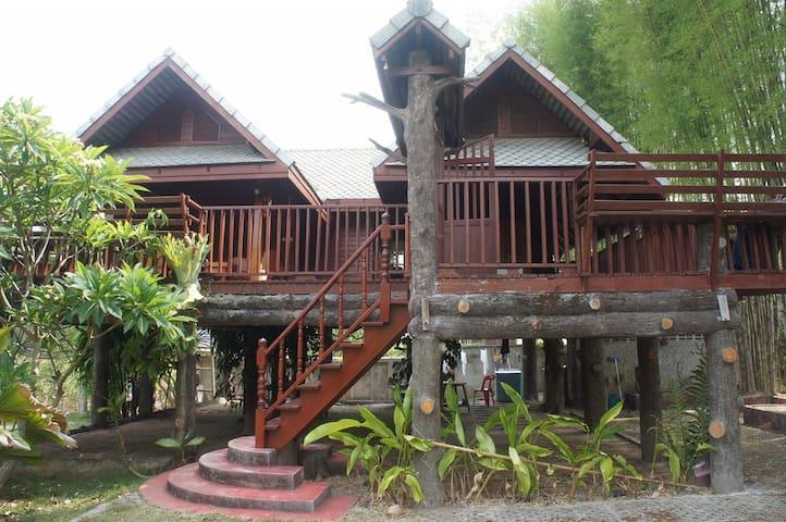 Thai Lanna Style Teak Wood House.