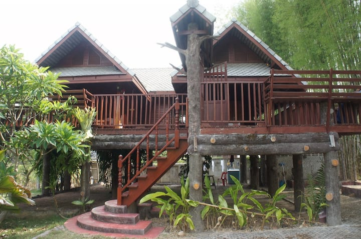 Thai Lanna Style Teak Wood House.