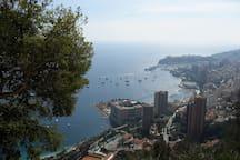 Bird's eye view of the Principality of Monaco