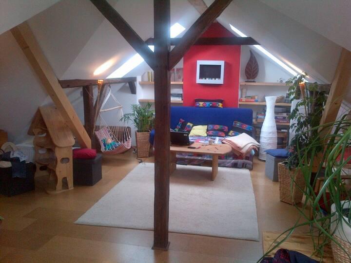 Kinderfreundlicher Dachboden