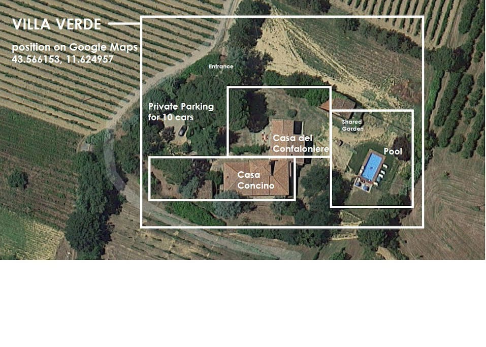satellite view of the property