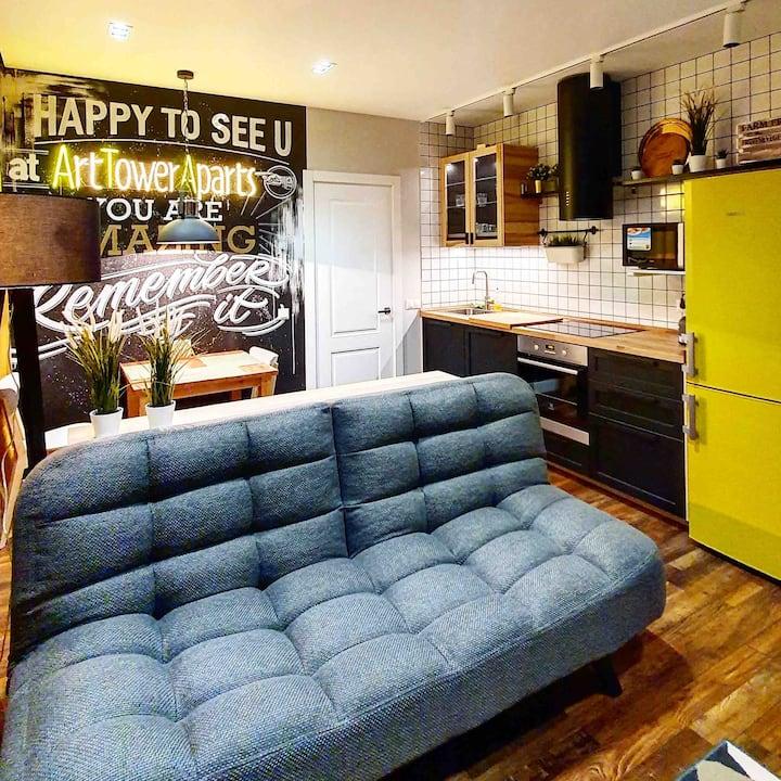 Видовые апартаменты LoftArt Aparts 509 для 2 чел.