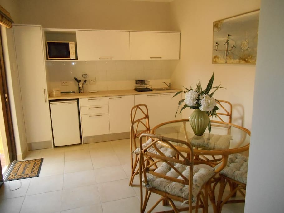 Light and bright kitchenette with views of Lion's Head