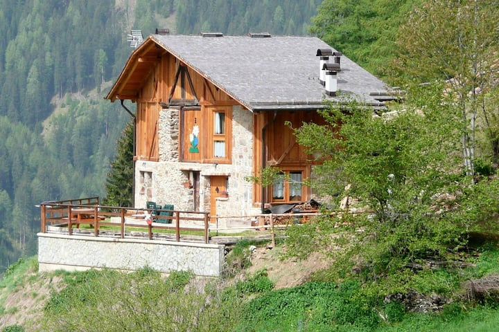 Beautiful Chalet in Rabbi with Garden