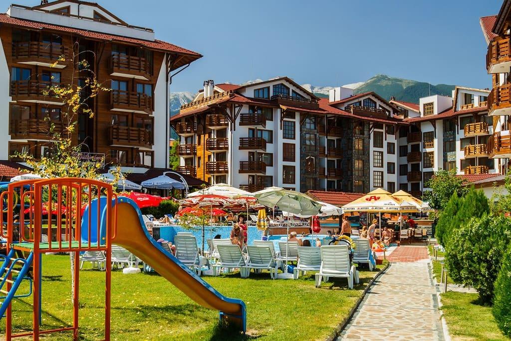 Belvedere complex summertime