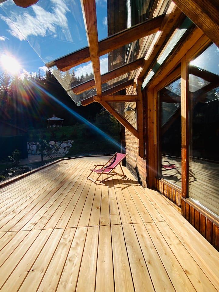 Zirbitzhütte mit Sauna und Kamin