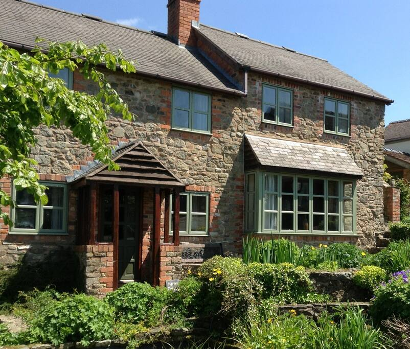 Curlew Cottage on the right with bay window