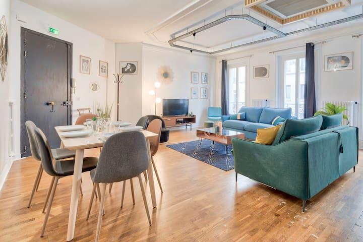 ♥ Bright apartment near Saint-Lazarre - 8P