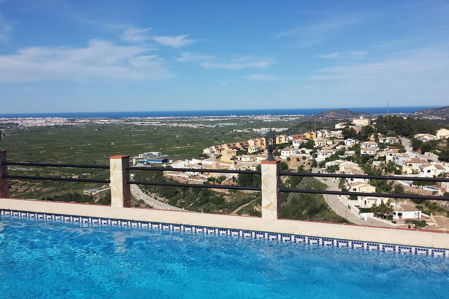 Panoramic view from terras