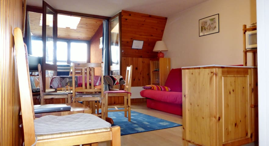 Super Besse studio loggia 33m², exposition sud - Besse-et-Saint-Anastaise - Appartement