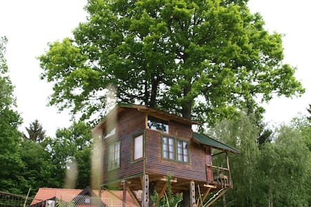"Fairytale tree house "" Ramona ""and  beautiful cave - Ponova Vas"
