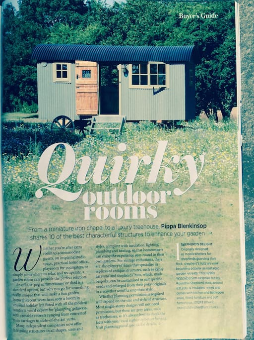 Vintage Shepherds Hut, Goodwood.