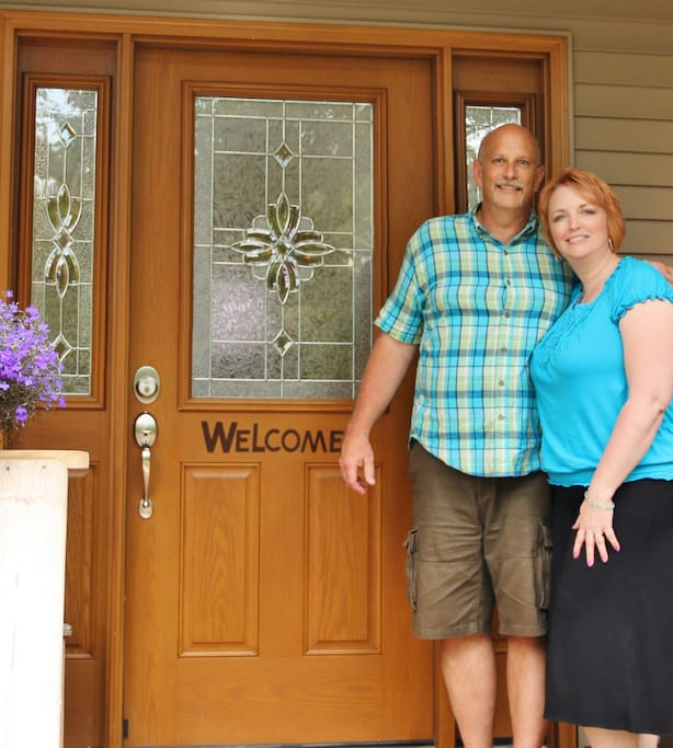 Welcome to our home! Your Innkeepers, Luke & Carin