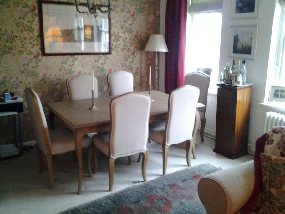 The dining area with seating for six, perfect for entertaining
