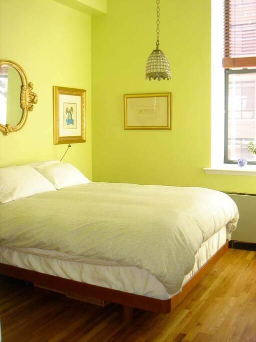 Cozy master bedroom.