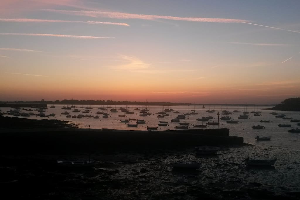 Coucher de soleil sur la rade de Port-Navalo