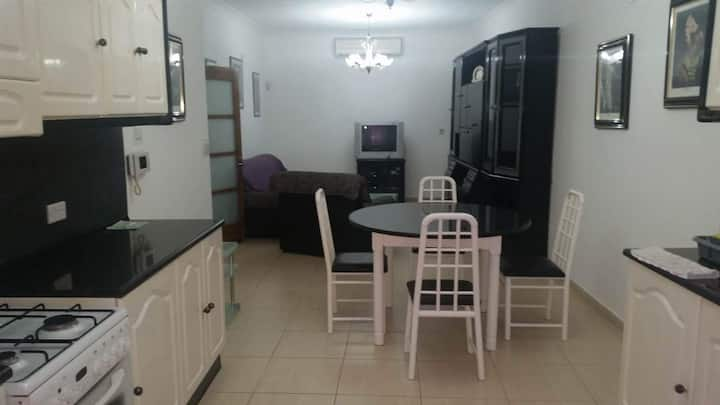 Fully equipped three bedroom apartment.