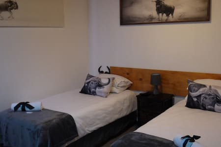 1 King size bed or 2 single beds in this unit your choice. Lots of space in this room, ideal for the use of a wheelchair.