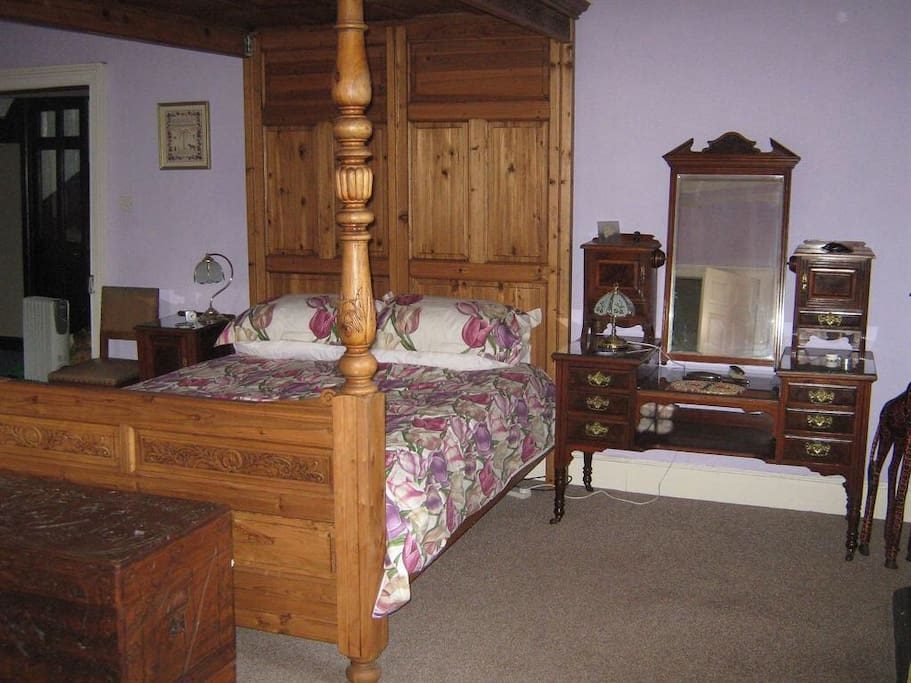 king size four poster in medieval part of the castle £100 per night