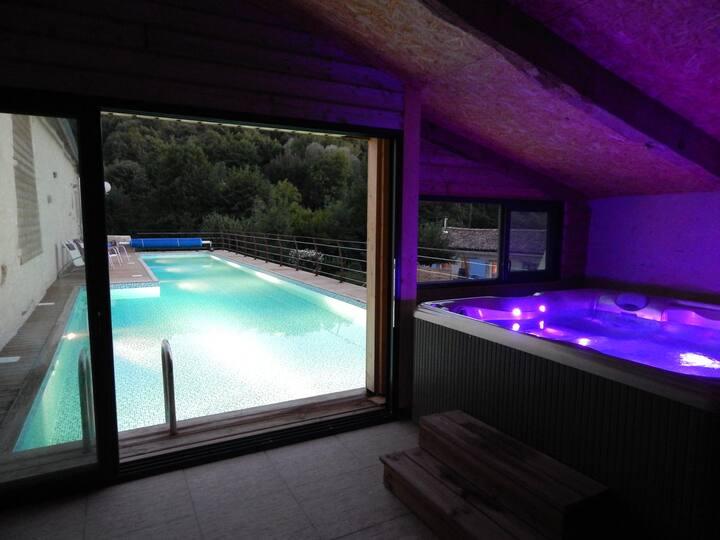 Maison Villa Piscine 20m 30°/Jacuzzi 37°/Rivière