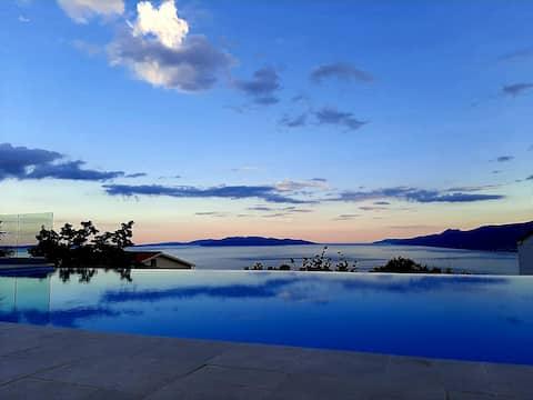 VillaMaelynn* Oppvarmet basseng Fantastisk havutsikt Opatija