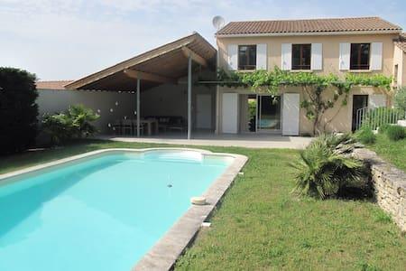 Grand Loft plein-pied, jardin & piscine privative - Lagnes - Loft