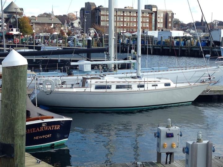 Dockside Sailboat