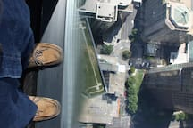 Standing on the edge of The Eureka Tower, 91 storeys up !!!