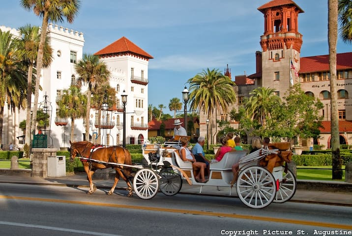 St. Augustine  is a quick 45 minute drive and is full of museums, shops and attractions.
