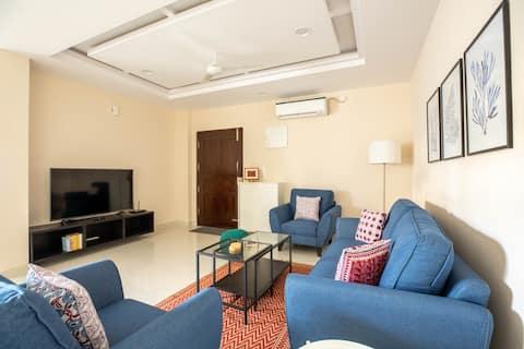 BLUE HAUS - New 3-Bedroom Near Banjara Hills