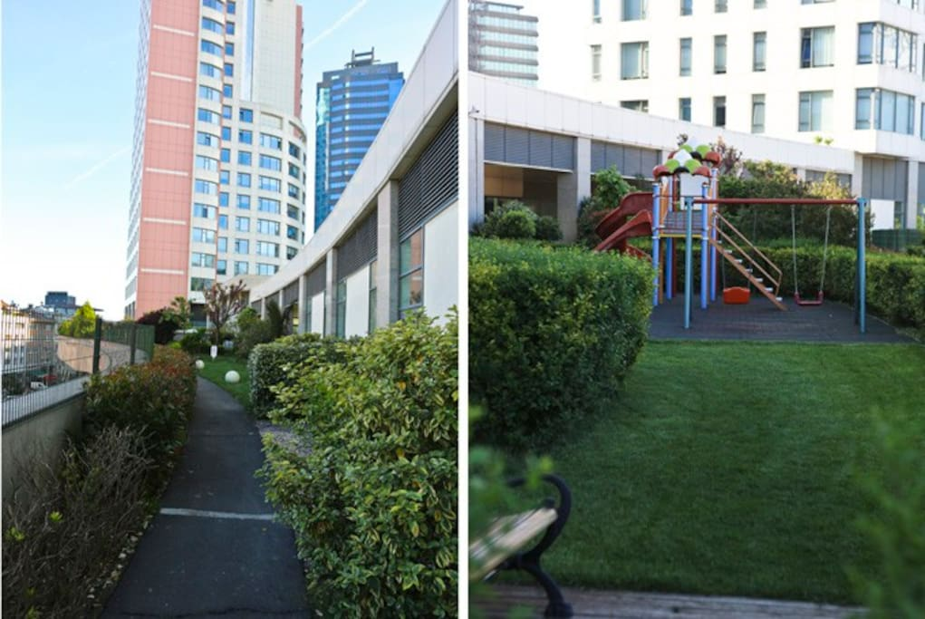 children park and green area for walking in the residence