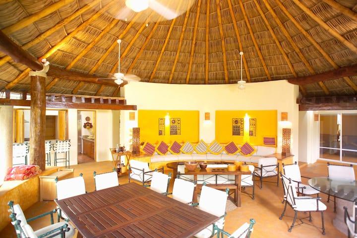 private Beach Villa Bugambilias at Marina Chacala