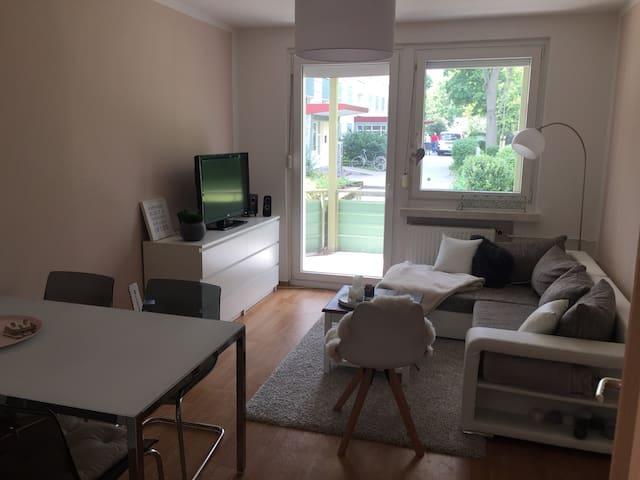 Zentrale Zweiraum-Wohnung im Grünen
