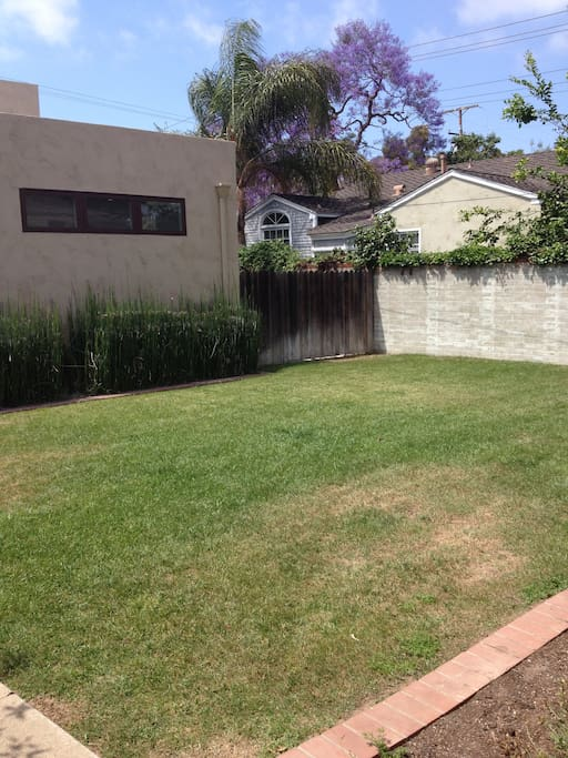 Backyard - will furnish with grill, table, and plenty of seating