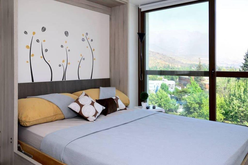 - Cama Real Tamaño Queen/Matrimonial, en mueble modular convertible en Sofa - Real Queen Size Bed, Wall Bed/Sofa System Furniture