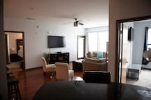 Mercedes Benz Stadium Premier Suite Living