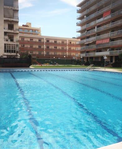 Apartamento en Malgrat con piscina - Malgrat de Mar - Apartment