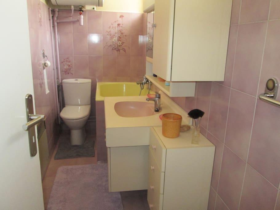 salle bain/WC avec baignoire, fenêtre