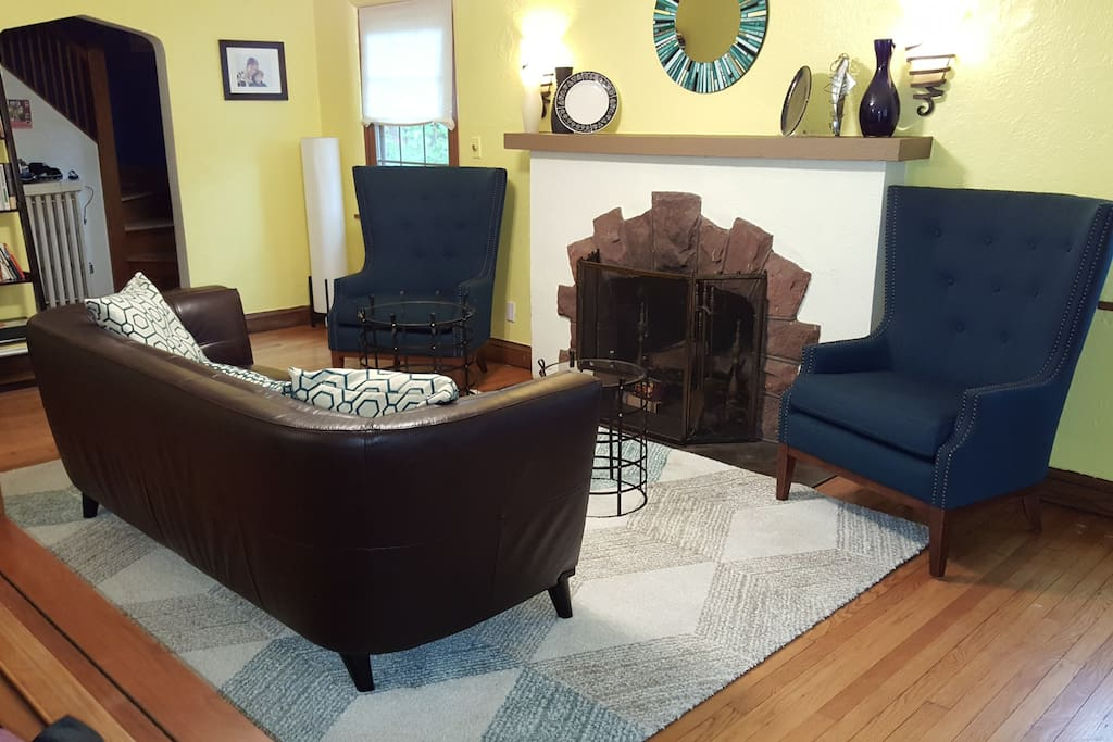 A beautifully and very comfortably furnished living room.