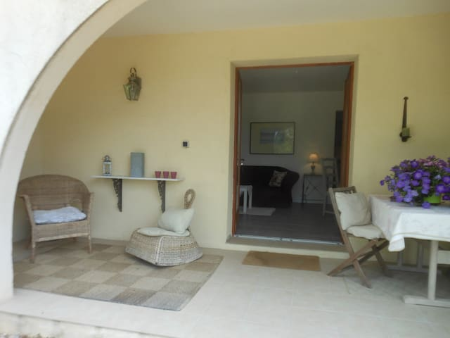 Veranda leading into the Logis des Lavandes... another perfect place for relaxing or dining