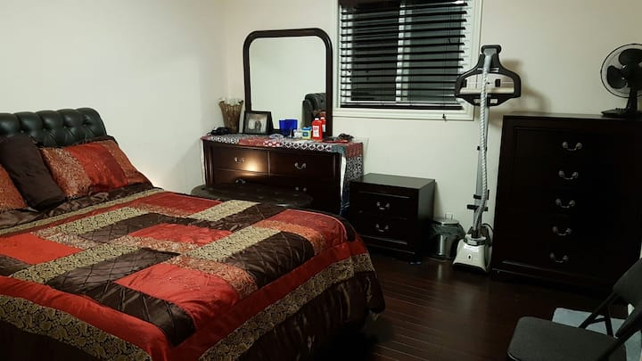 Spacious room with private washroom