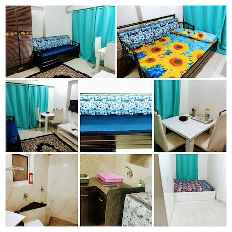 BLISS 24;COMPACT 1BHK FOR 4 PAX IN ANDHERI WEST