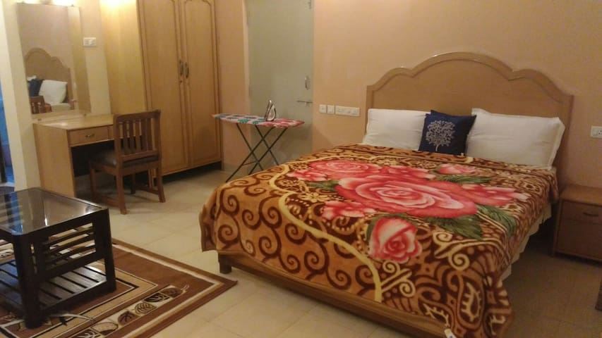 Fully Furnished AC room for 4 Guests_
