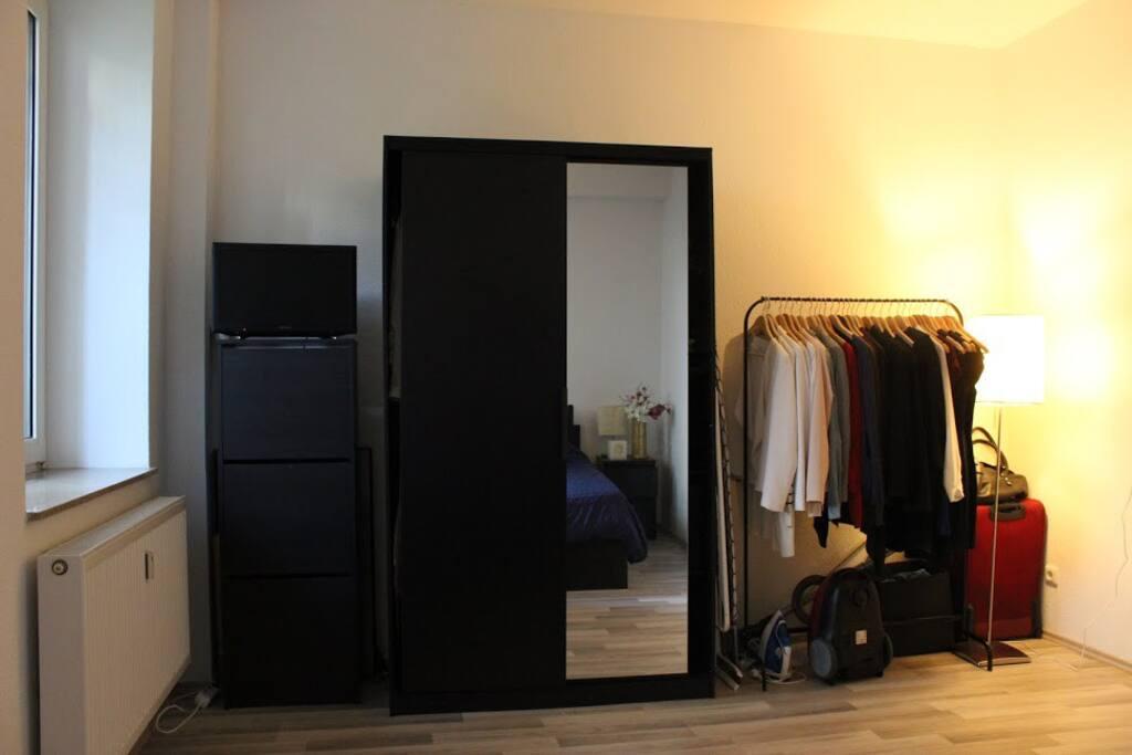 Bedroom - Closet and TV