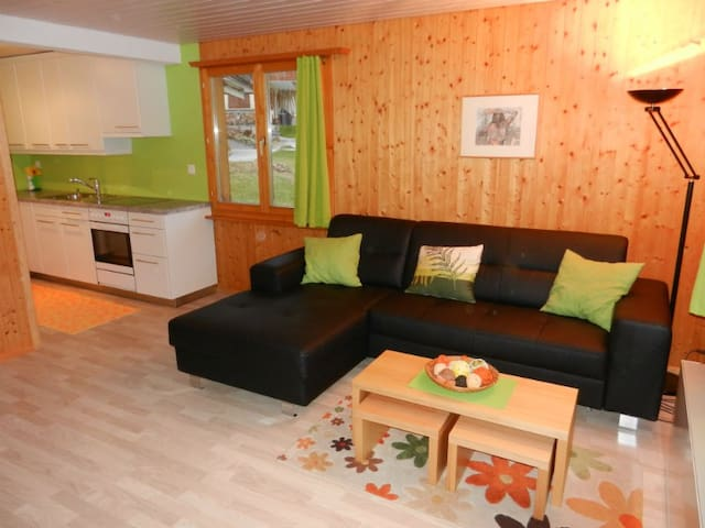 Ferienwohnung Schweizer Affeier, (Obersaxen), 34006B, Apartment with Shower/Toilet for max. 4 People