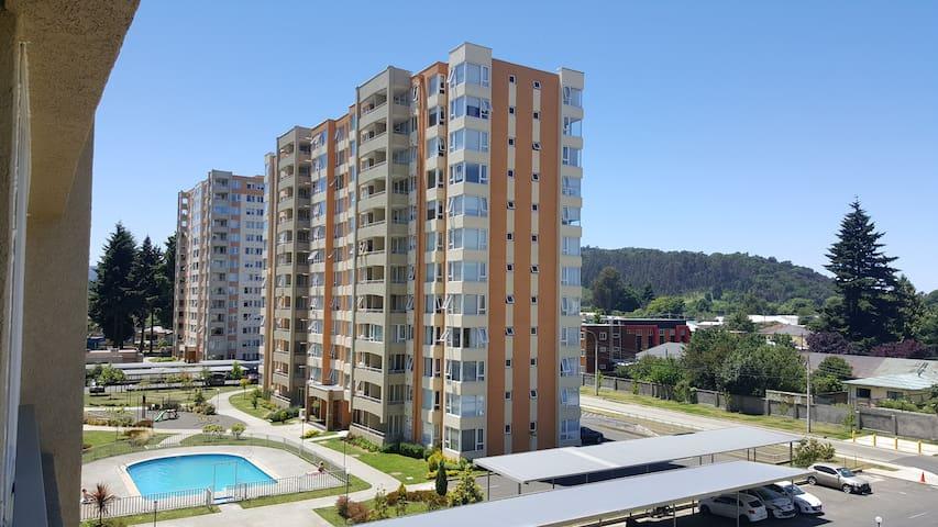 MODERNO DEPARTAMENTO CON PISCINAS GIMNASIO JUEGOS - Temuco - Apartment