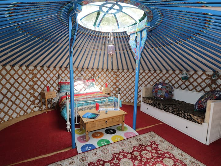 Onehams Yurt Village Blue.