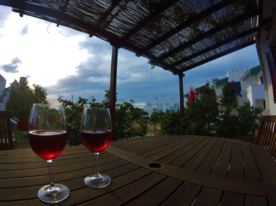 Have a glass of wine at your balcony :)
