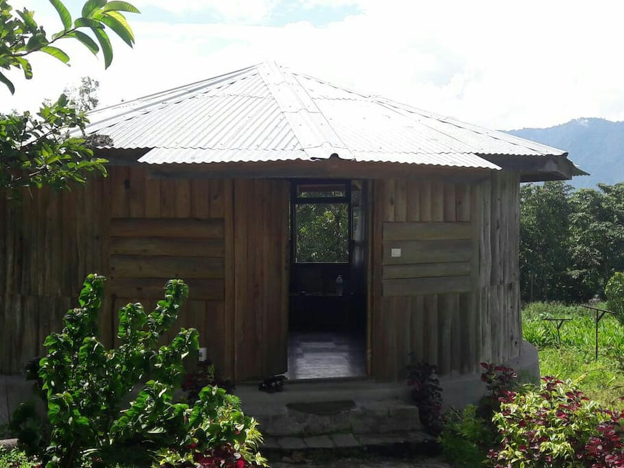How Circular cabin looks from outside